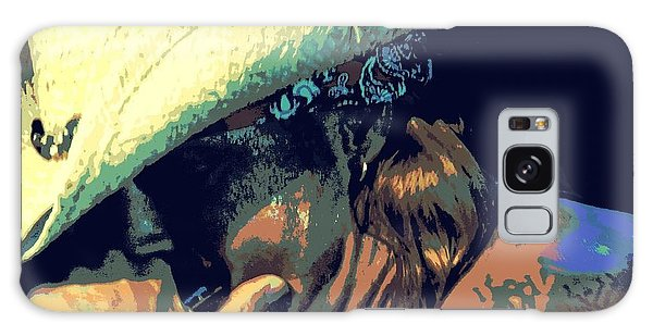 Bret Michaels With Harmonica Galaxy Case by Michelle Frizzell-Thompson