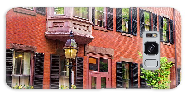 Brick House Galaxy Case - Brick Houses And Gas Street Lamp by Russ Bishop