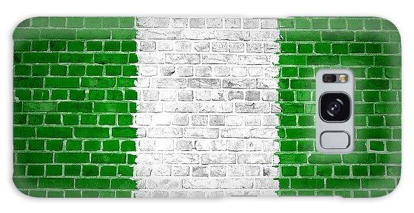 Nigeria Galaxy Case - Brick Wall Nigeria by Antony McAulay