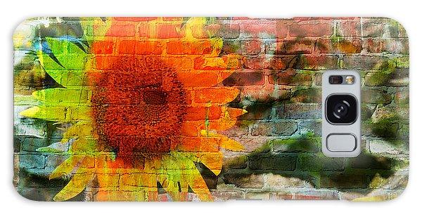 Bricks And Sunflowers Galaxy Case