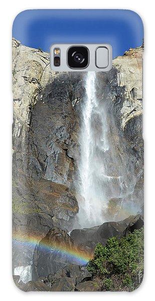 Bridalveil Falls With Rainbow Galaxy Case by Debra Thompson