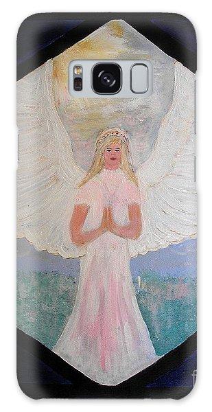 Angel In Prayer  Galaxy Case