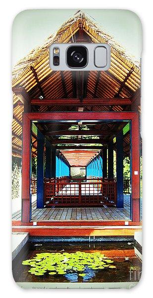 Bridge At Ubud Galaxy Case by Marguerita Tan
