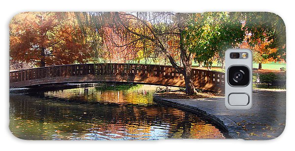 Bridge In Autumn Galaxy Case by Ellen Tully