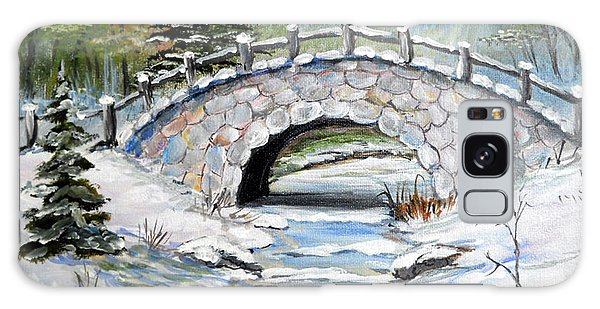 Bridge In Winter Galaxy Case by Dorothy Maier