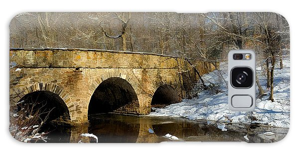 Bridge In Woods Galaxy Case