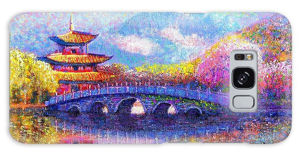 Blossoms Galaxy Case - Bridge Of Dreams by Jane Small