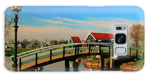 Bridge Over Calm Waters Galaxy Case by Jonah  Anderson