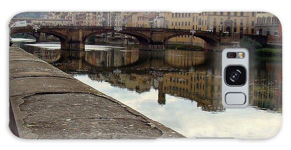 Bridge Over Quiet Waters Galaxy Case by Walter Fahmy