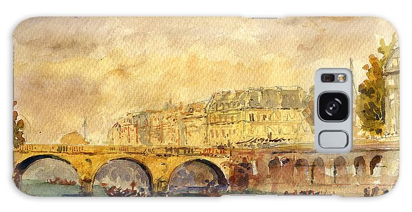 Bridge Over The Seine Paris. Galaxy Case