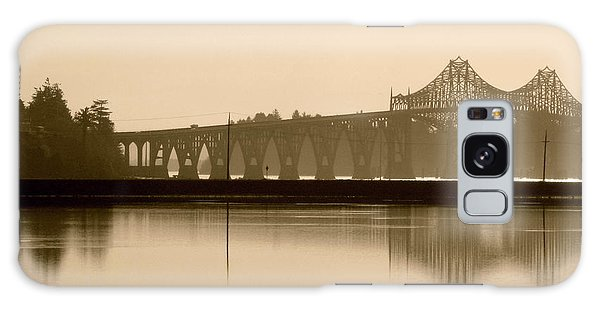 Bridge Reflection In Sepia Galaxy Case by Katie Wing Vigil