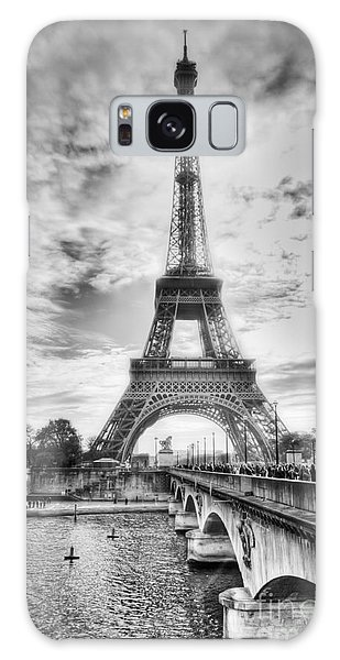 Bridge To The Eiffel Tower Galaxy Case
