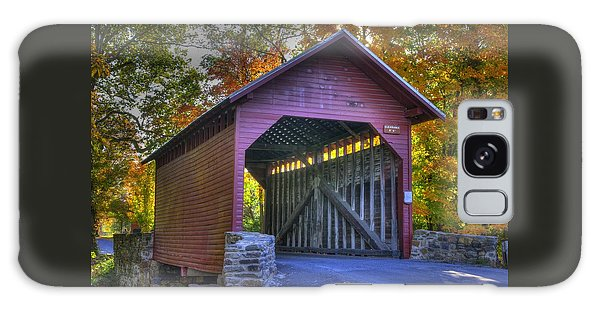 Bridge To The Past Roddy Road Covered Bridge-a1 Autumn Frederick County Maryland Galaxy Case by Michael Mazaika
