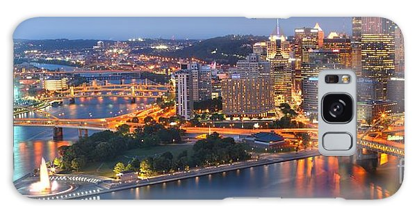 Bridge To The Pittsburgh Skyline Galaxy Case