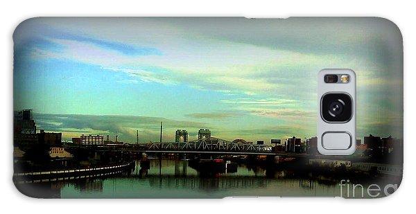 Bridge With White Clouds Vignette Galaxy Case by Miriam Danar