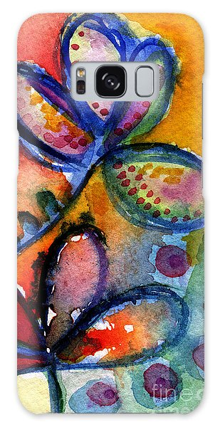 Bright Abstract Flowers Galaxy Case