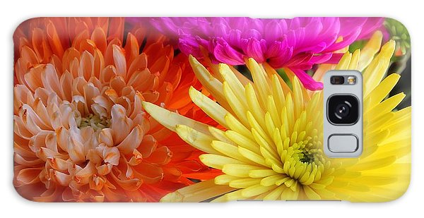 Bright Chrysanthemums Galaxy Case by The Art of Alice Terrill