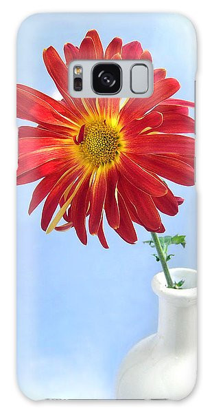 Bright Day Daisy Galaxy Case by Louise Kumpf