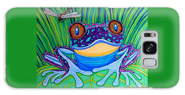 Bright Eyed Frog Galaxy Case by Nick Gustafson