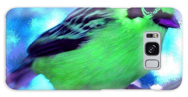 Bright Green Finch Galaxy Case
