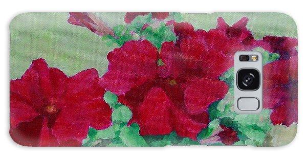 Red Flowers Art Brilliant Petunias Bright Floral  Galaxy Case