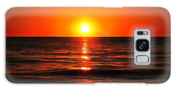 Ocean Sunset Galaxy S8 Case - Bright Skies - Sunset Art By Sharon Cummings by Sharon Cummings