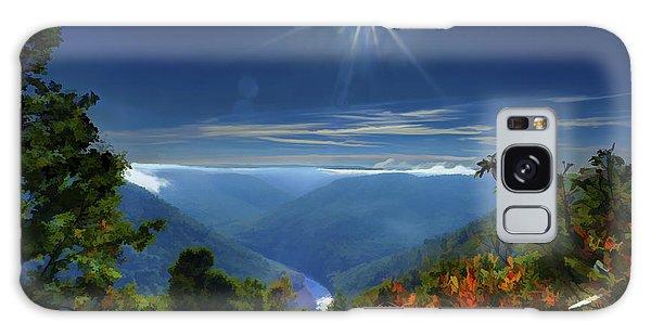 Bright Sun In Morning Cheat River Gorge Galaxy Case by Dan Friend