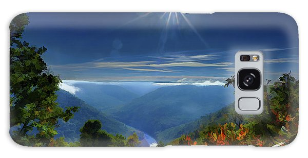 Galaxy Case featuring the photograph Bright Sun In Morning Cheat River Gorge by Dan Friend