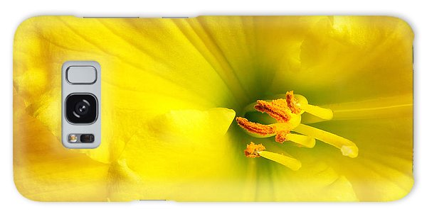 Bright Yellow Lily Galaxy Case