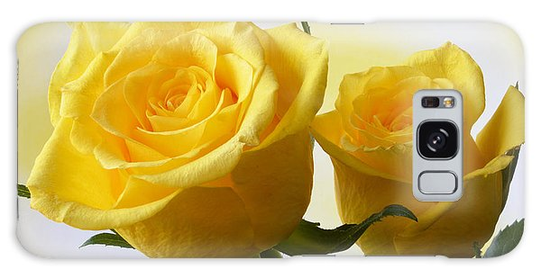 Bright Yellow Roses. Galaxy Case