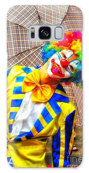 Brightly Dressed Clown With Umbrella Galaxy Case