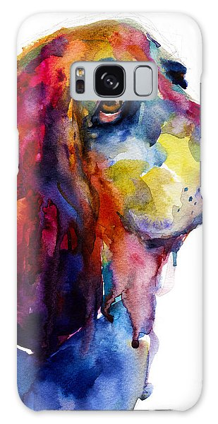 Watercolor Pet Portraits Galaxy Case - Brilliant Basset Hound Watercolor Painting by Svetlana Novikova