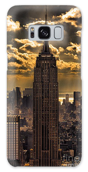 Brilliant But Hazy Manhattan Day Galaxy Case