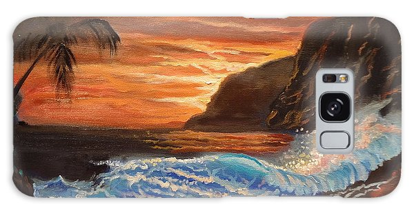 Brilliant Hawaiian Sunset 1 Galaxy Case by Jenny Lee