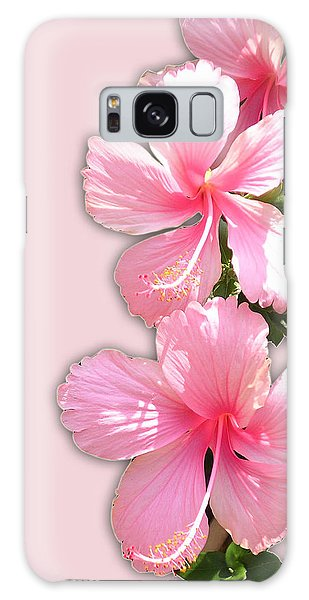 Brilliant Pink Hibiscuses Galaxy Case by Karen Nicholson