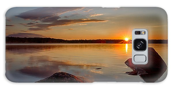 Brilliant Sunrise. Baxter Lake Nh Galaxy Case