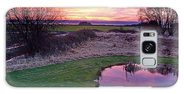 Brilliant Sunset With Pond Landscape Galaxy Case
