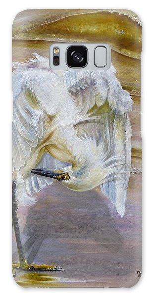 Brilliant White Snowy Egret Galaxy Case