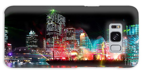 Brisbane City Of Lights Galaxy Case by Peta Thames