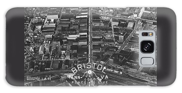 Bristol Virginia Tennessee Early Aerial Photo Galaxy Case