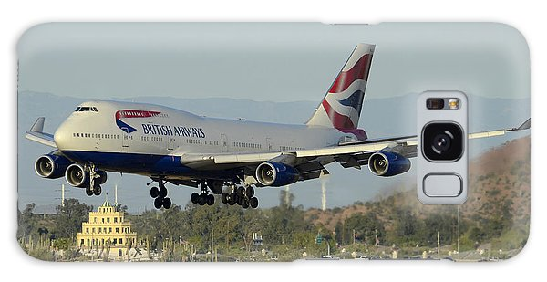 British Airways Boeing 747-436 G-bnlx Landing Phoenix Sky Harbor March 10 2015 Galaxy Case