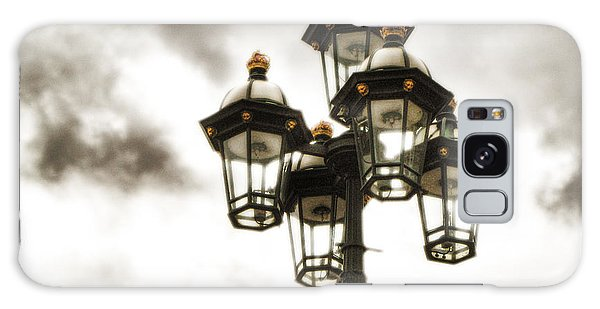 British Street Lamp Against Cloudy Sky Galaxy Case