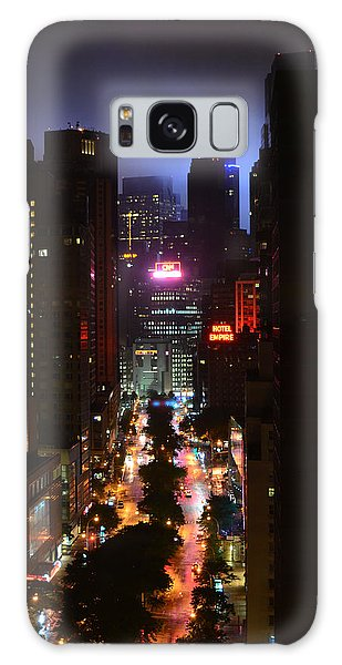 Broadway And 72nd Street At Night Galaxy Case