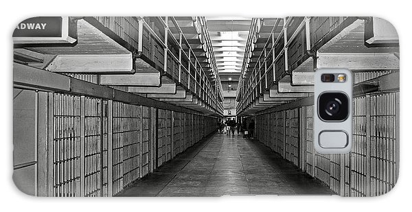 Broadway Walkway In Alcatraz Prison Galaxy Case by RicardMN Photography