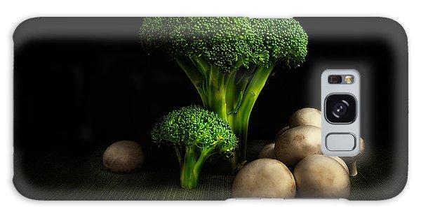 Broccoli Crowns And Mushrooms Galaxy Case