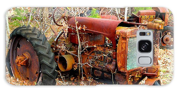 Broken Down Old Tractor Galaxy Case
