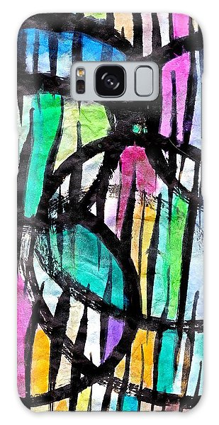 Galaxy Case featuring the painting Broken Fences by Joan Reese