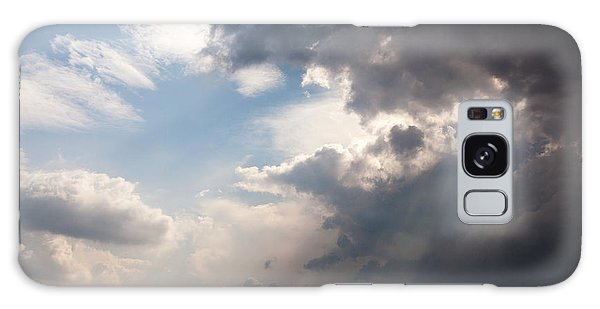 Broken Rain Clouds With Blue Sky And Sun Streaming Through Cloud Galaxy Case