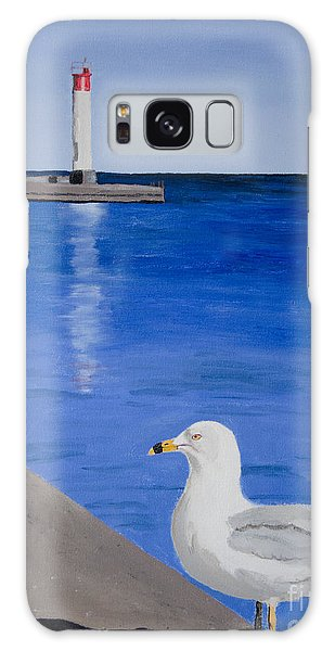 Bronte Lighthouse Gulls In Oil Galaxy Case