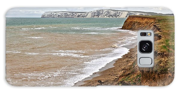 Brook Bay And Chalk Cliffs Galaxy Case